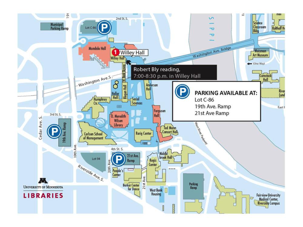 university of minnesota parking map Parking Map For Bly Event Continuum University Of Minnesota university of minnesota parking map