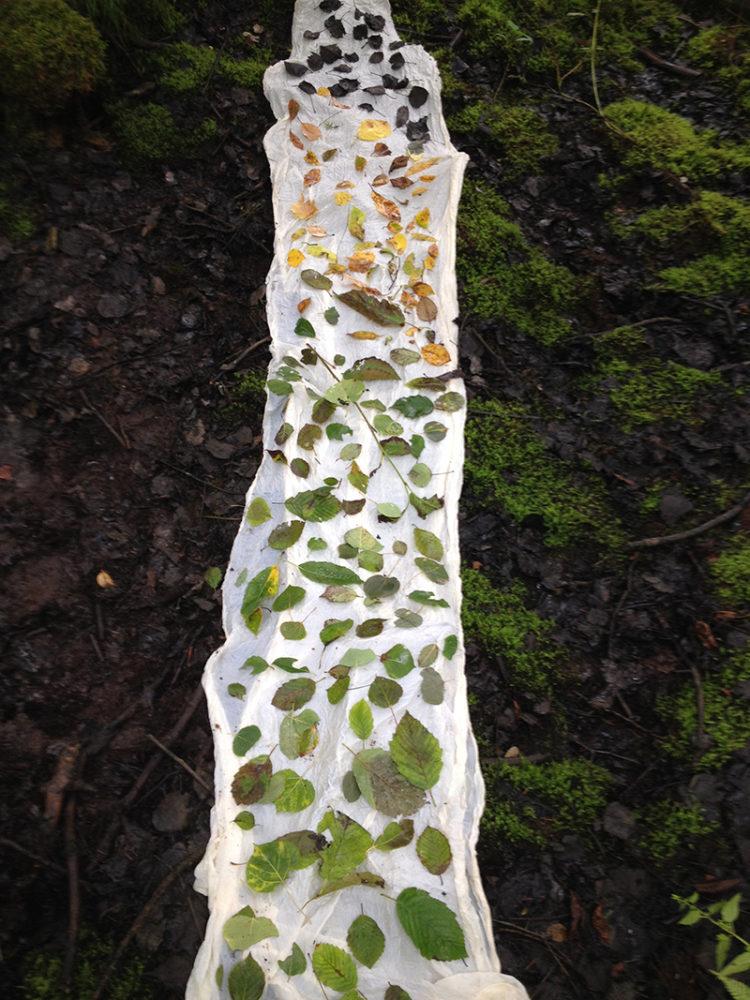 Photo of fiber art by Moira Bateman