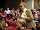 Audience member at Wilkerson event