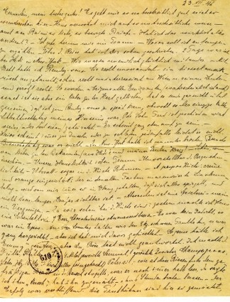 First page of a handwritten letter to Emilie Wehle, 1946.