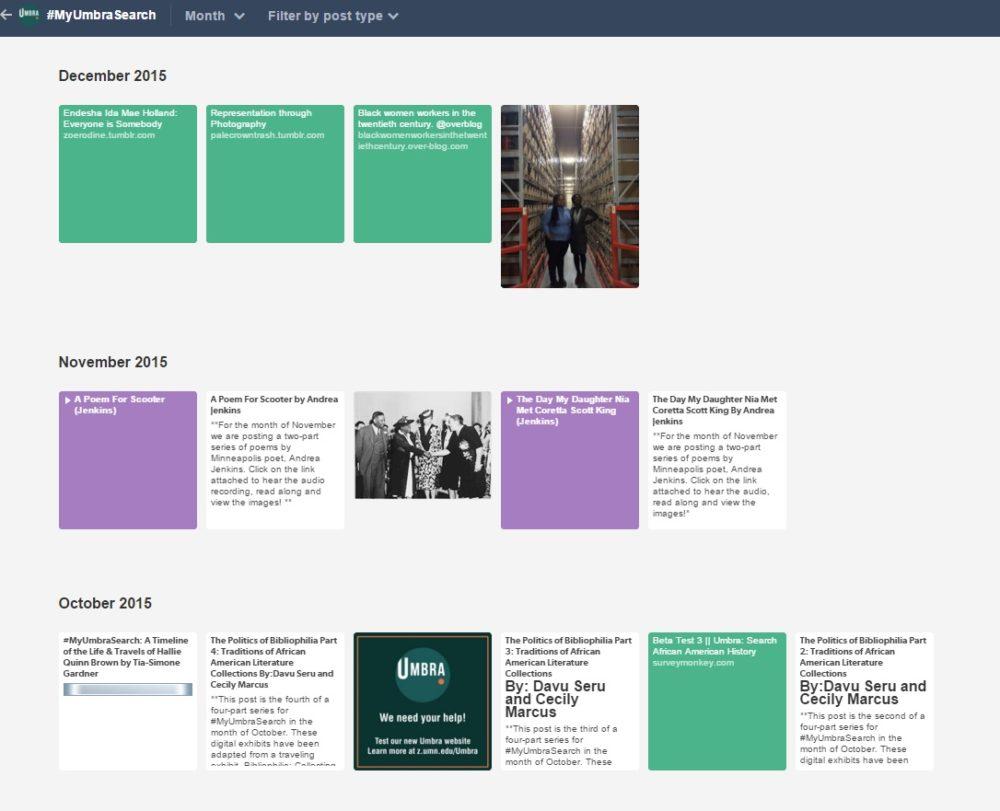 MyUmbraSearch | continuum | University of Minnesota Libraries