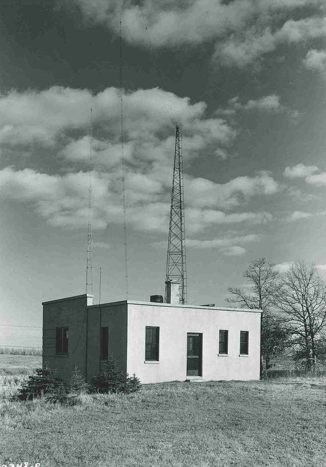 Station tower and maintenance house, 1938.