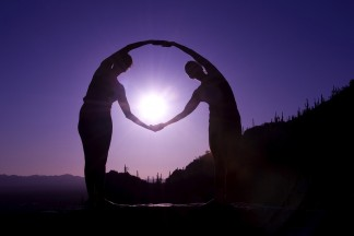 Circling Setting Sun on Wall