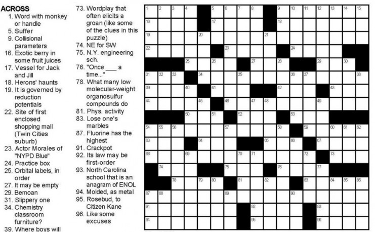 """Follow the screenshot for the full puzzle, """"The Central Science""""!"""