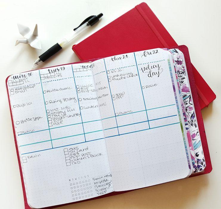 calendar and journal