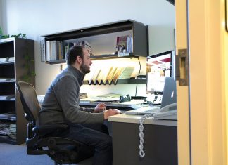 Librarians like Scott Spicer, at left, our Media Outreach Librarian, provide the services and resources that students rely on.