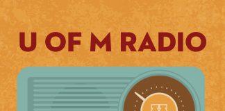 U of M Radio On Your Historic Dial with retro radio icon