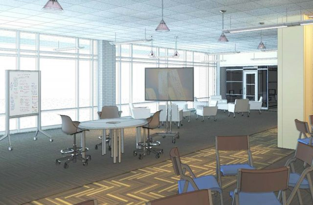 Interior view of Collaboration Studio