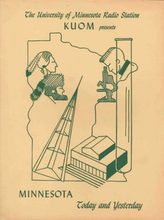 Cover of bulletin for Tales of Minnesota and University Reports to the People, 1949. University of Minnesota Radio and Television Broadcasting records, University Archives
