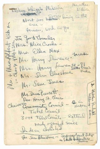 Notes on people interviewed in Morton, 1948. University of Minnesota Radio and Television Broadcasting records