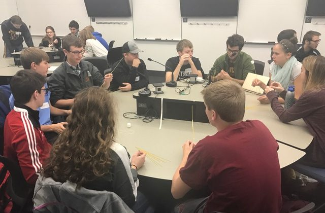 Students conversing in CSE 1001: First Year Experience class