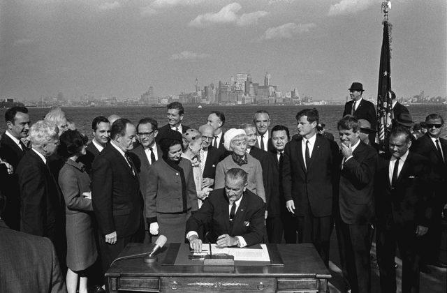 LBJ Signs Immigration Bill, 1965