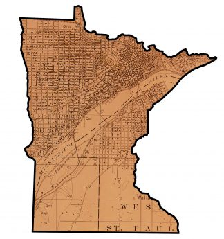 Copper Plate of Map of Minnesota