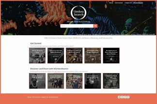 Umbra Search home page