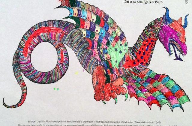 Artwork by a 2nd grade friend of @BioMedLib