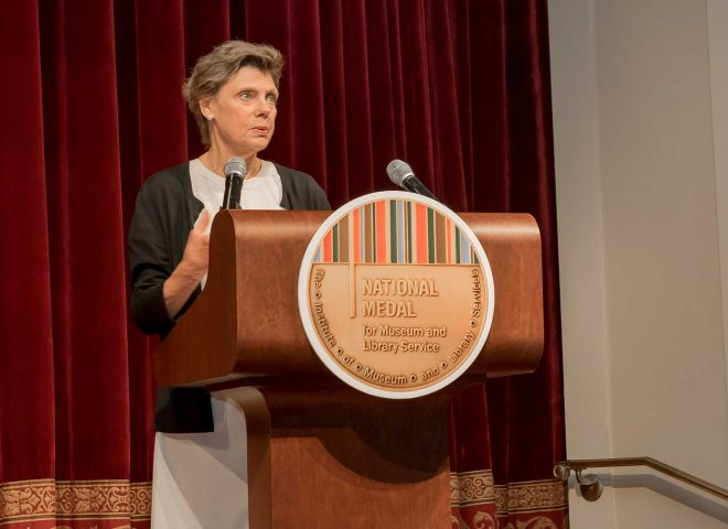 Cokie Roberts at the 2017 National Medal Ceremony