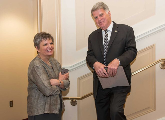 University Librarian Wendy Lougee and National Archivist David S. Ferriero