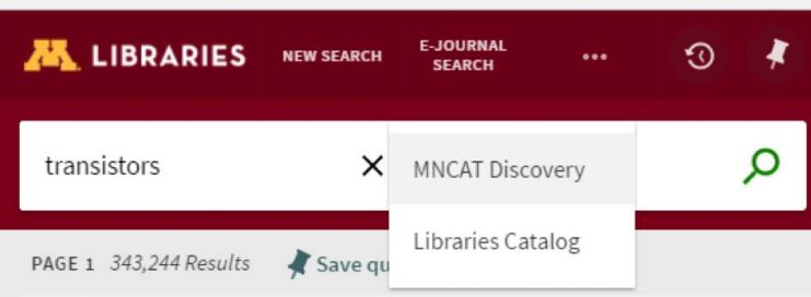 Limit search to Libraries catalog screen images