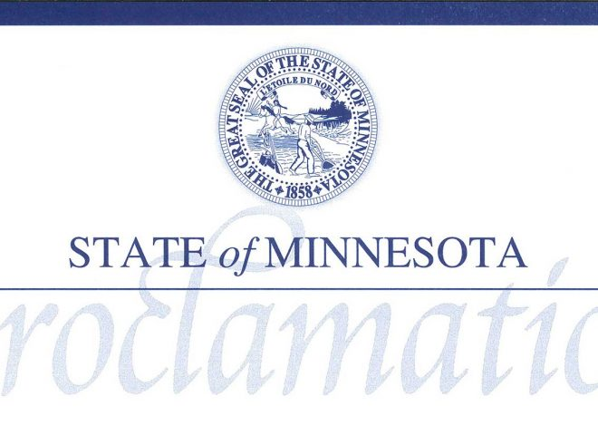 State of Minnesota Proclamation banner