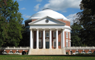 University of Virginia Rotunda, the site where members of the Alt-Right led a torch march on Friday, August 11.