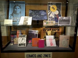 Zine Collection in display panel