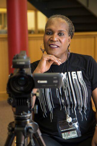 Andrea Jenkins behind the camera