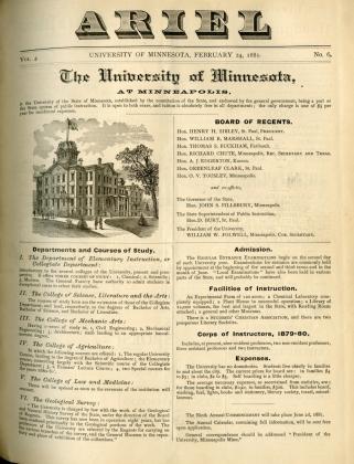 Ariel, 1877-1900, first University student newspaper