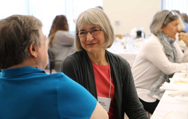 Marcia Pankake at the Creative Heritage Initiative lunch