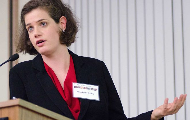 Elizabeth Ross presented the 2016 Carl Sheppard Lecture