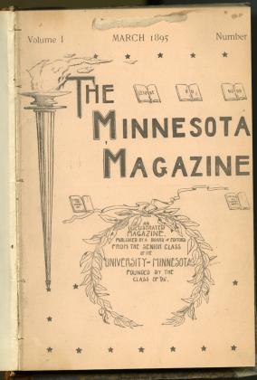 Minnesota Magazine, 1895-1917, literary magazine published by the senior class