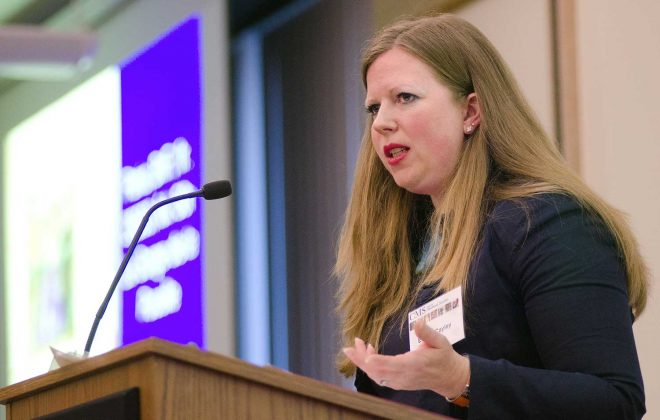 Emma Cayley presents the Rutherford Aris lecture