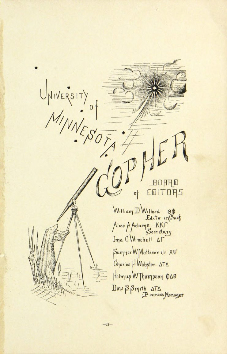 The Gopher, Volume 1, 1888