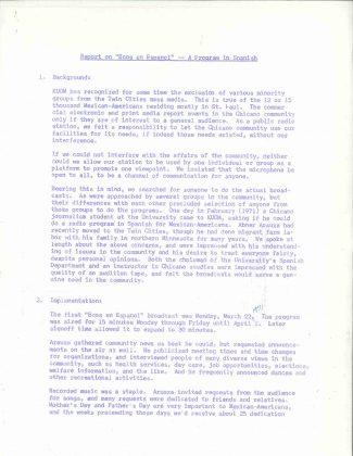 """Report on """"Ecos en Espanol,"""" 1971"""