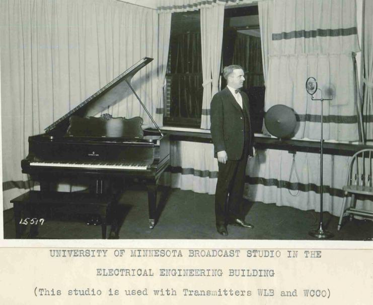 Radio studio in the new Electrical Engineering Building, 1926