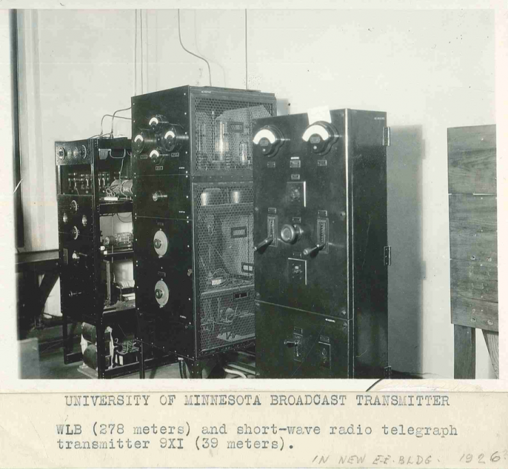 Radio equipment in the new Electrical Engineering Building, 1926