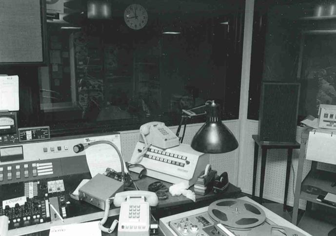 Station studio, circa 1980s