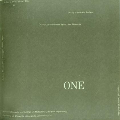 One, 1973-1974, literary magazine