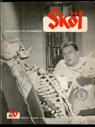 """Skol, 1951-1952, a general interest magazine that re-tooled after a few issues to offer news and """"punchy articles about fashion, sports, and humor with photos, jokes, cartoons, and fiction"""""""