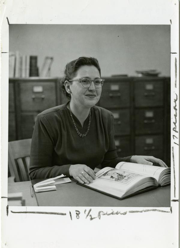 Maxine Clapp, university archivist, undated.