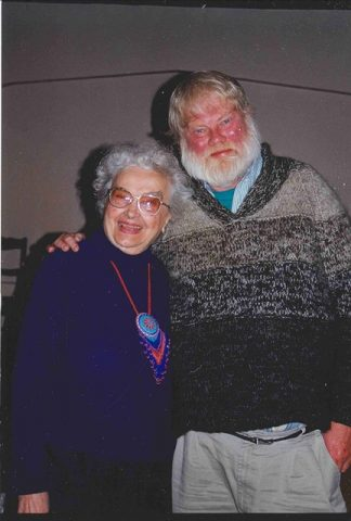 Maryanna Manfred and Bill Holm in December 1999.