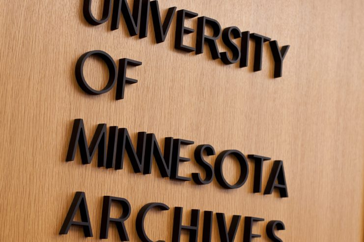 University of Minnesota Archives in the Elmer L. Andersen Library. Photograph courtesy of Andria Waclawski.