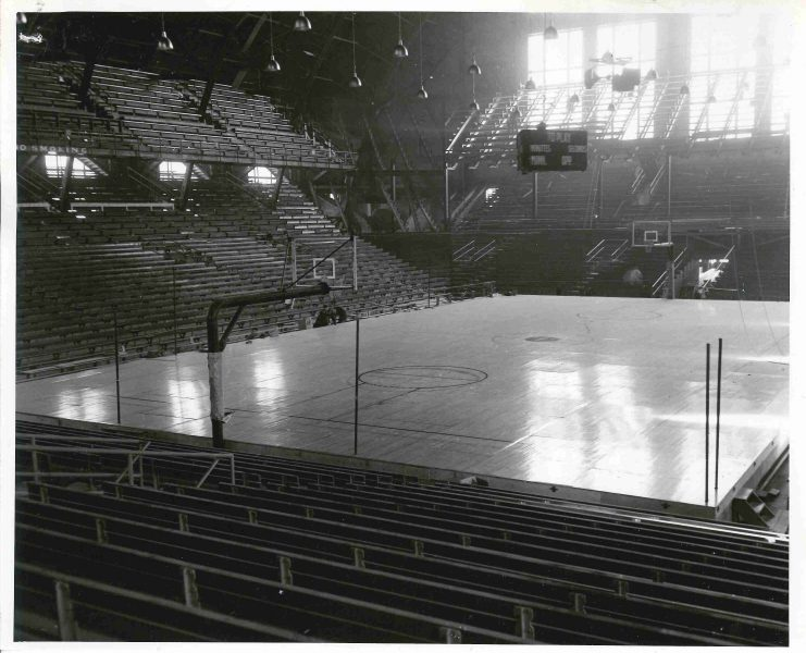 No matter the outcomes of the games or matches, the signature raised floor of Williams Arena, pictured in 1949, will keep a special place in the hearts of Gopher fans.