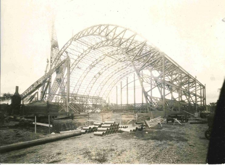 The structure sprang to life in late September 1927.