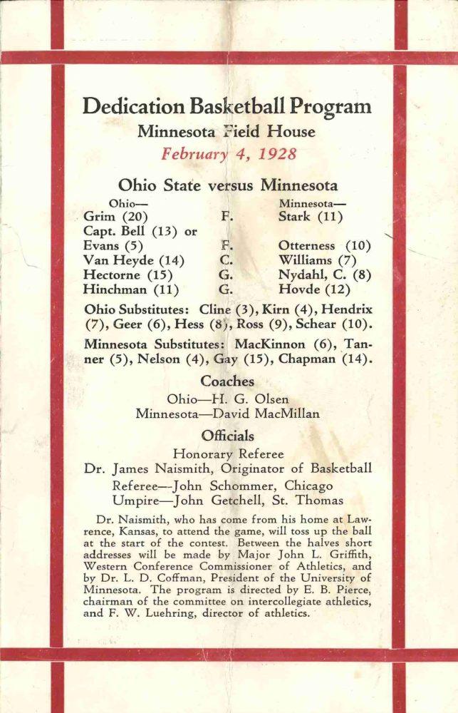 DedicationProgramCover_1928   continuum   University of