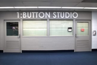 Photo of the 1:Button Studio in the Bio-Medical Library.