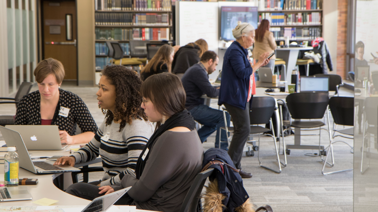Librarians involved in Research Sprints in the Wilson Studio