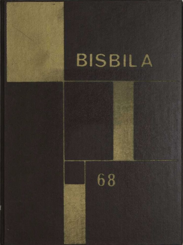 Cover of the 1968 Bisbila yearbook published by the University High School.