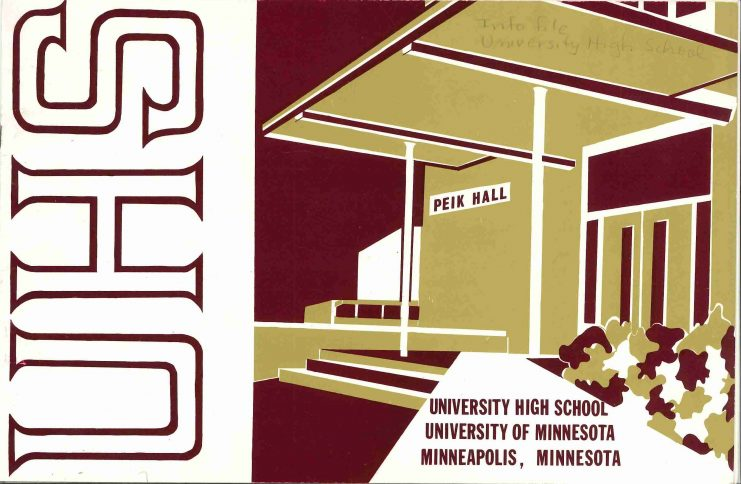 Brochure for the University High School.