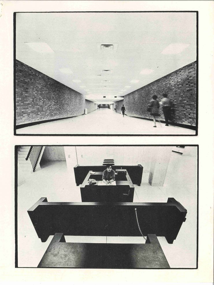 "Random Magazine photo essay ""Lost in Space: Impressions of Wilson Library; A Photo Essay by Richard Olsenius,"" 1970."