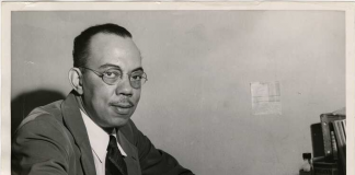 Forrest O. Wiggins, 1947. Hired by the University of Minnesota as an instructor in Philosophy, Prof. Wiggins was the first African American to teach at the University of Minnesota. Dismissed from the University in 1951, Wiggins believed the reasoning was directly related to his socialist ideology.